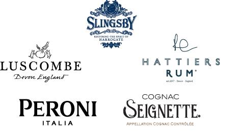 Luscombe, Peroni Nastro Azzurro, Hattiers Rum, Slingsby Gin, Seignette vs Cognac